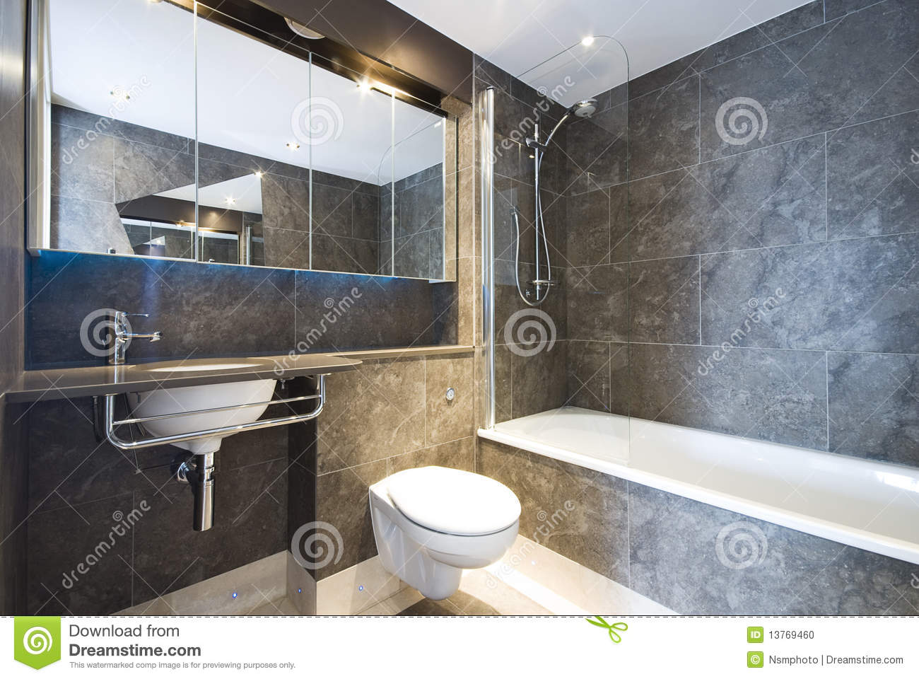 Baños Modernos De Marmol:Brown Marble Tile Bathroom