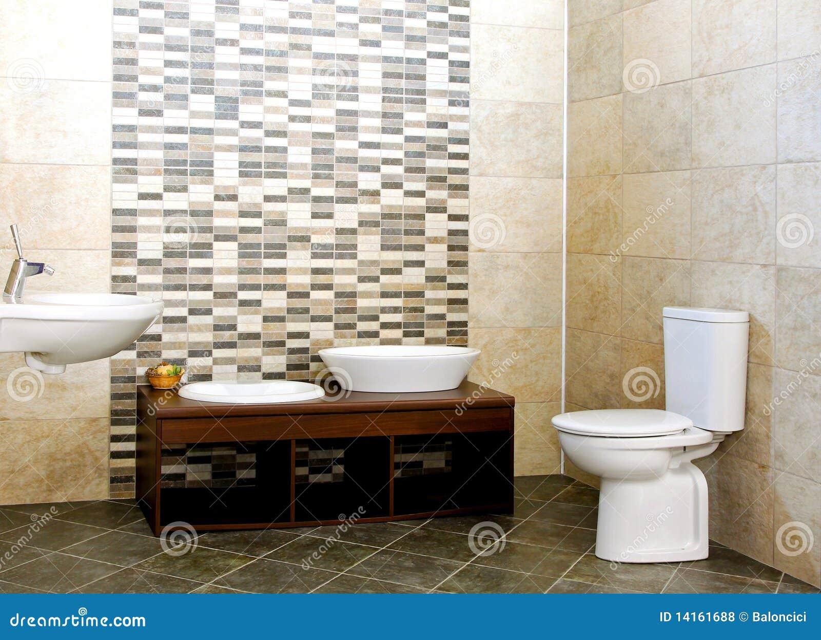 Baldosas Baño Grises: de baño grande de la huésped con las baldosas cerámicas grises
