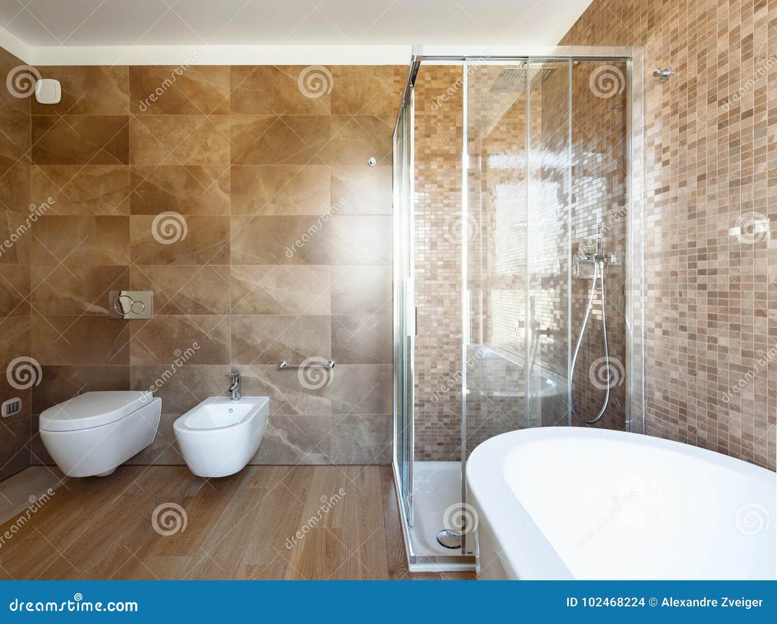 Cuarto De Baño De Lujo En Una Casa Moderna Foto de archivo ...