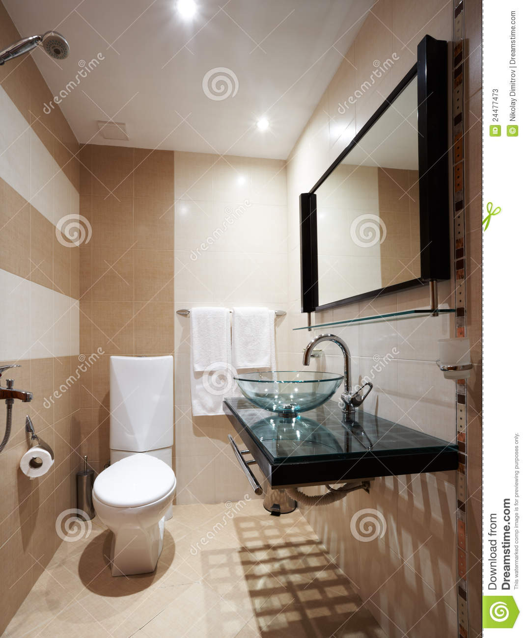 Cuarto De Baño Moderno Fotos:Modern Small Bathroom Brown