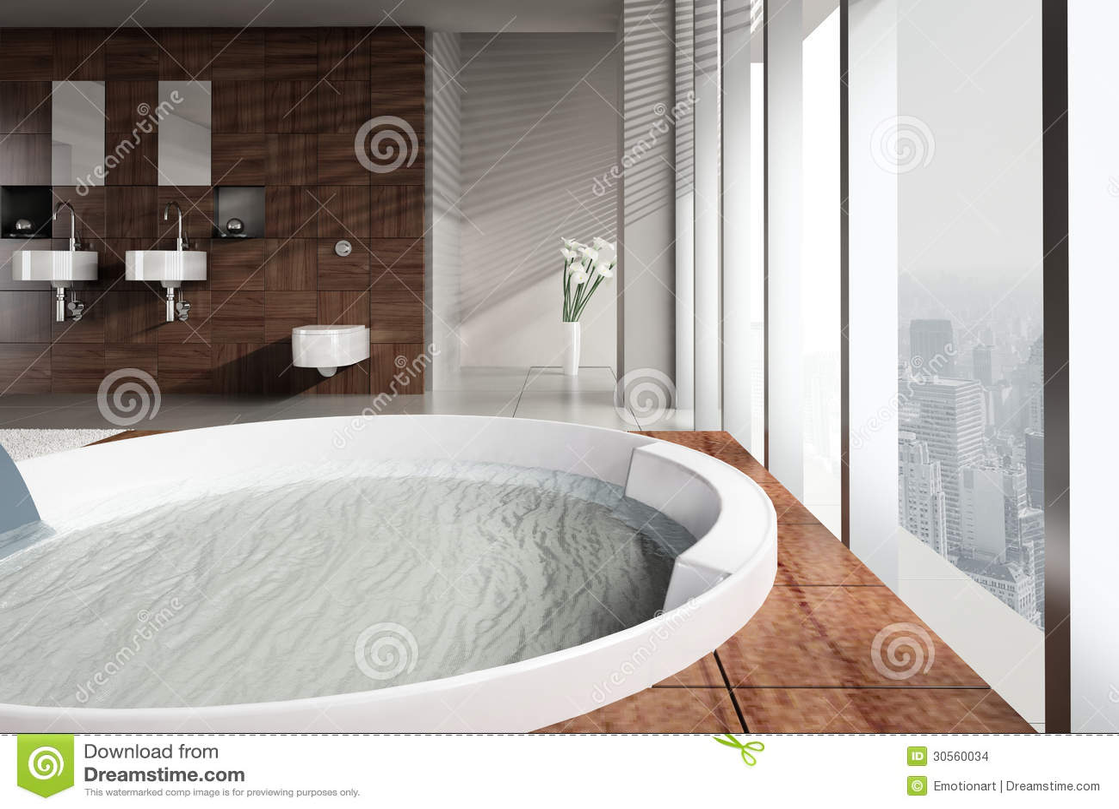 Imagenes De Baño Con Jacuzzi:Imagenes de archivo: Cuarto de baño moderno con el lavabo y el