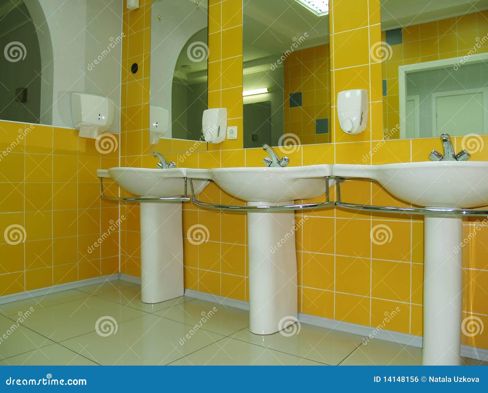Hacer Del Baño Moco Amarillo:Yellow Bathroom with Toilet