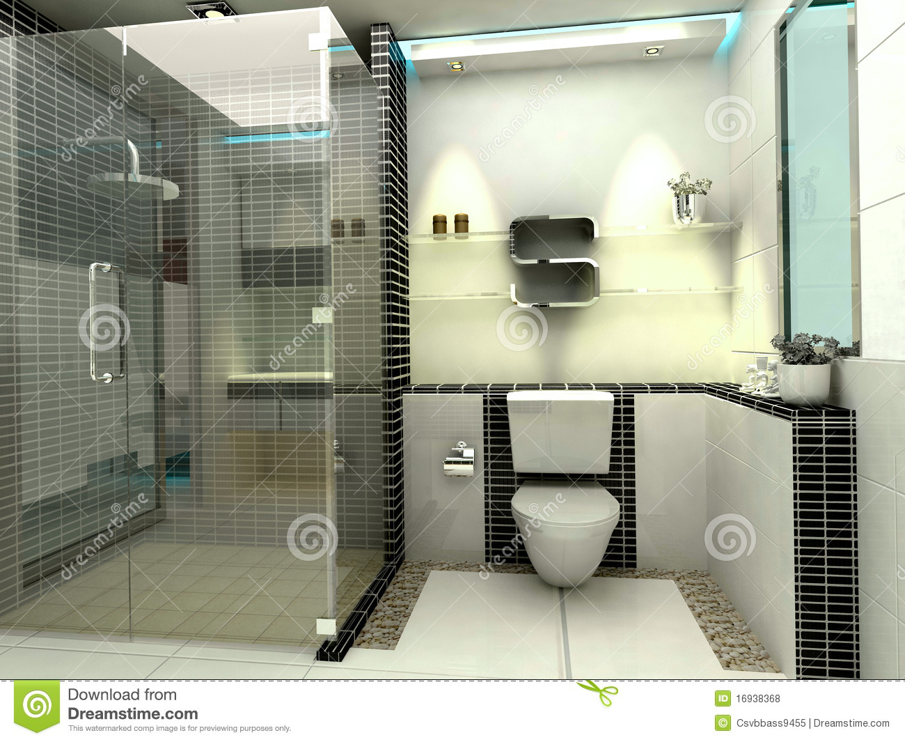 Baño De Lujo Moderno:Modern Luxury Bathroom
