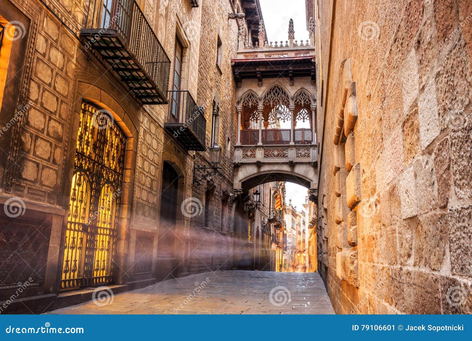 Cuarto de Barri Gotic de Barcelona, España