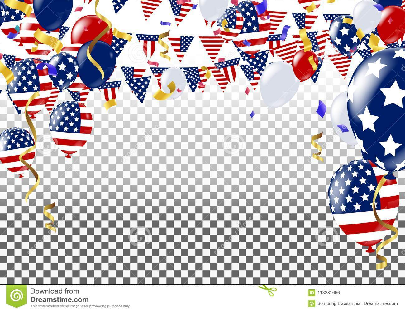 Cuarto de julio 4to de la bandera del día de fiesta de julio Día de la Independencia de los E