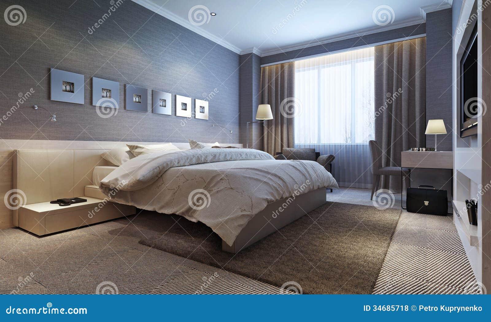 Cuartos de invitados interiores modernos fotos de archivo for Interiores de dormitorios