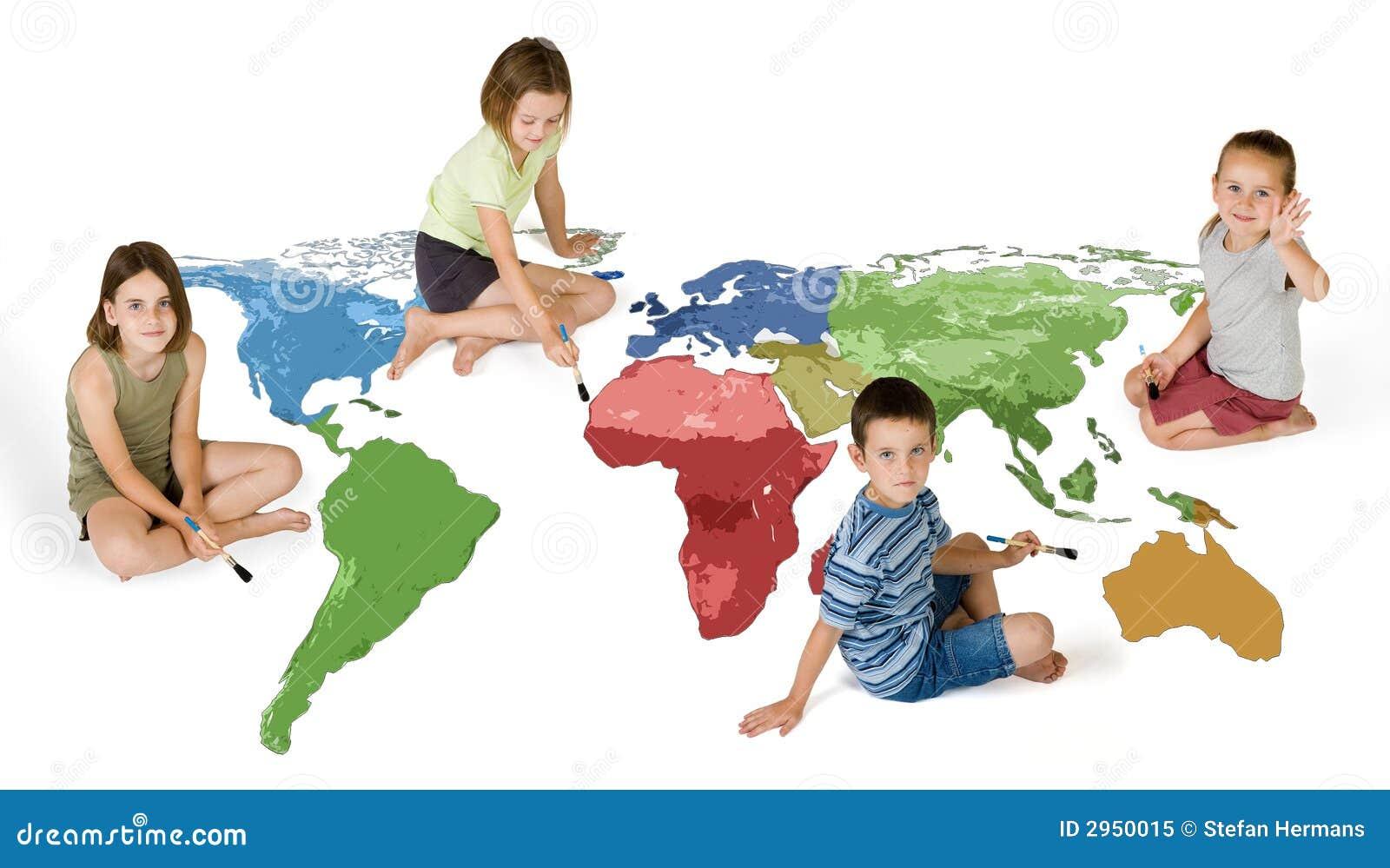 Cuatro cabritos que pintan el mundo