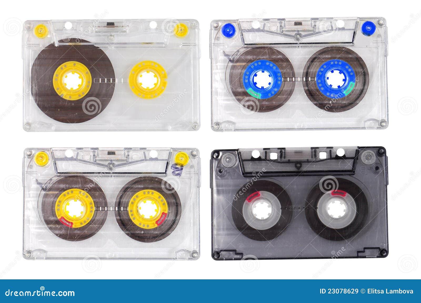 Cuatro cassettes de cinta