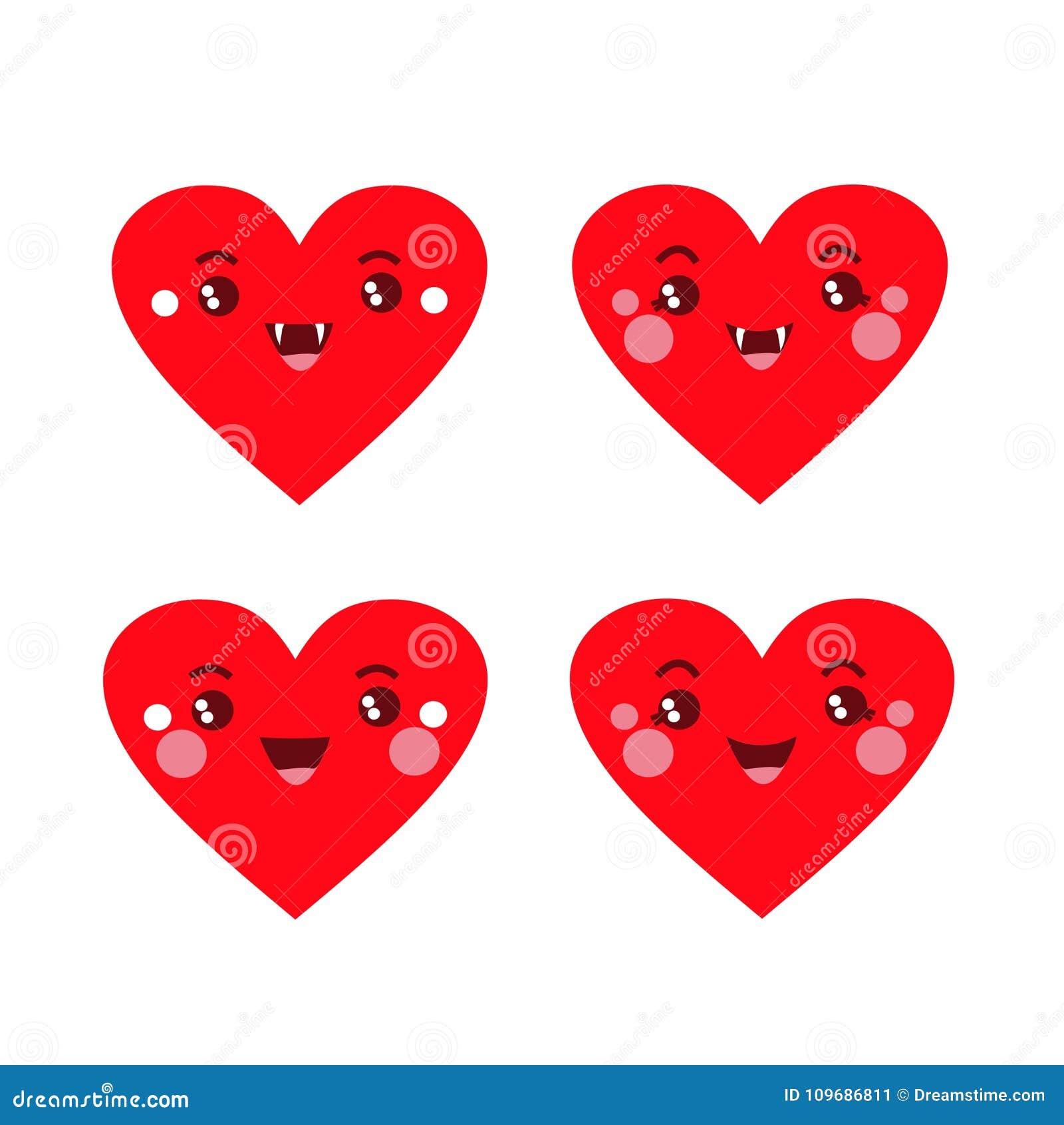 Cuatro corazones divertidos con rajitsami divertido