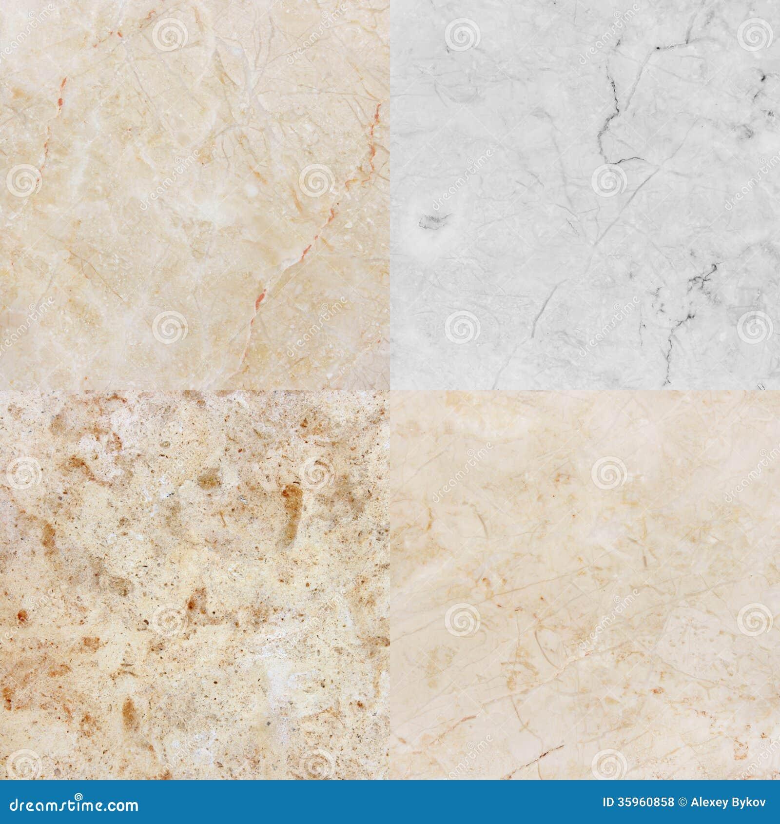 Cuatro diversa textura del mármol y del granito. (high.res.)