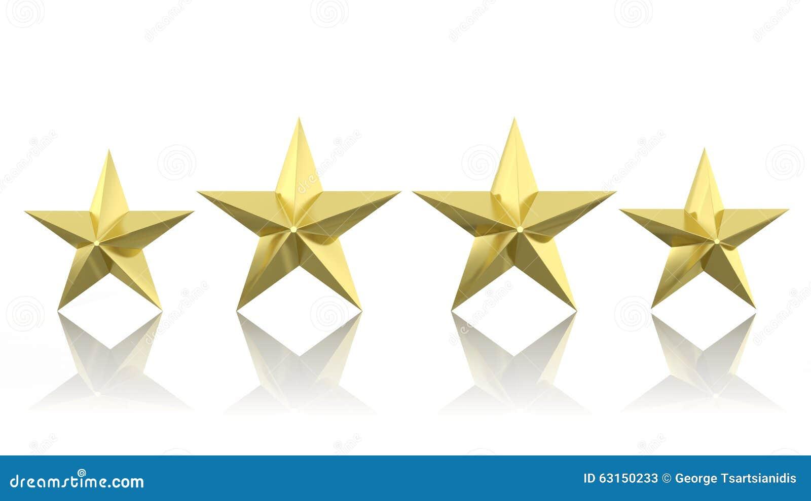 Cuatro estrellas de oro stock de ilustraci n ilustraci n for Quattro stelle arredamenti surbo