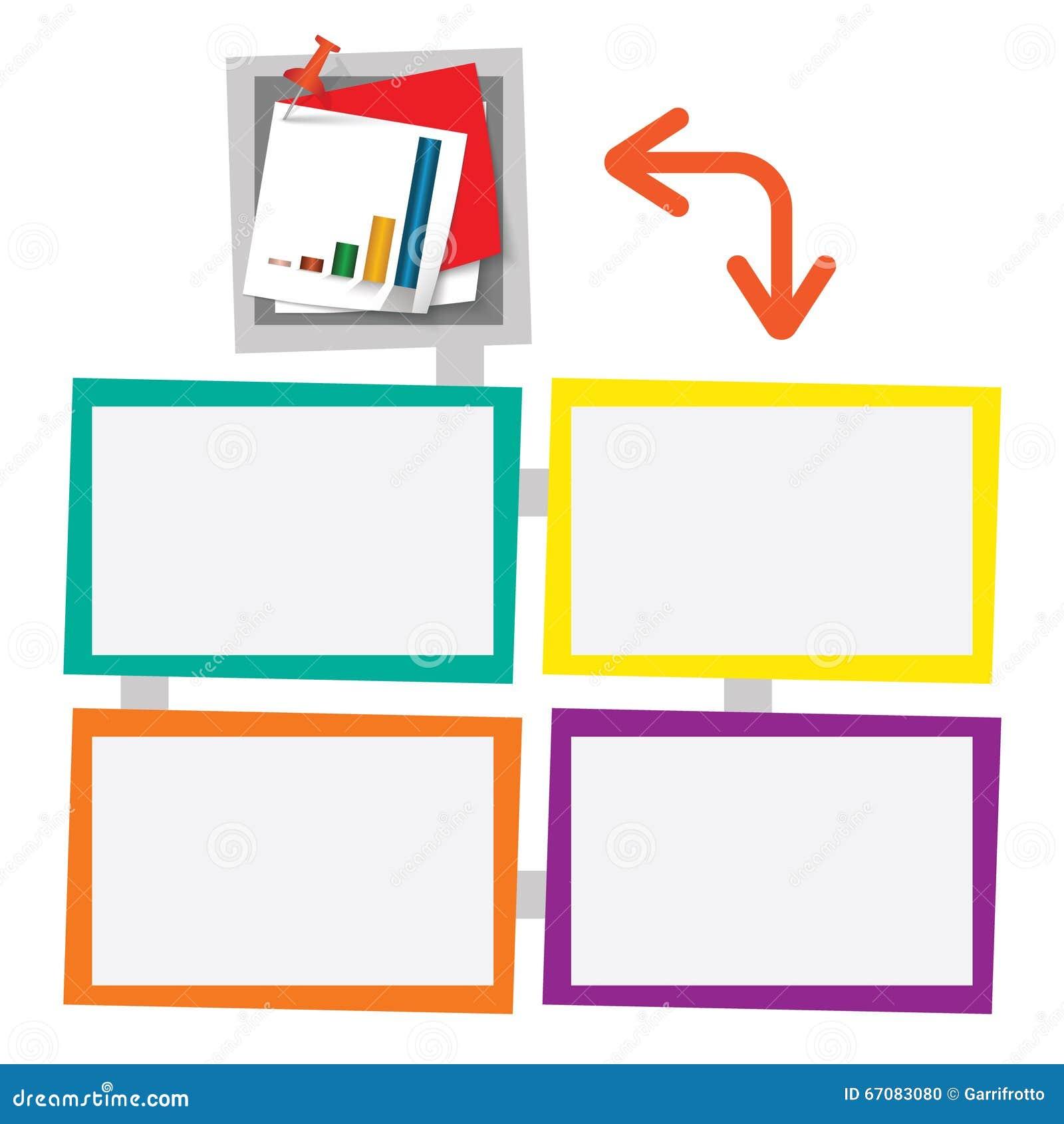 Cuatro marcos coloreados ilustración del vector. Ilustración de ...