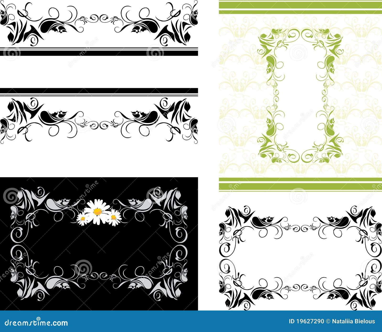 cuatro marcos decorativos para el dise o foto de archivo