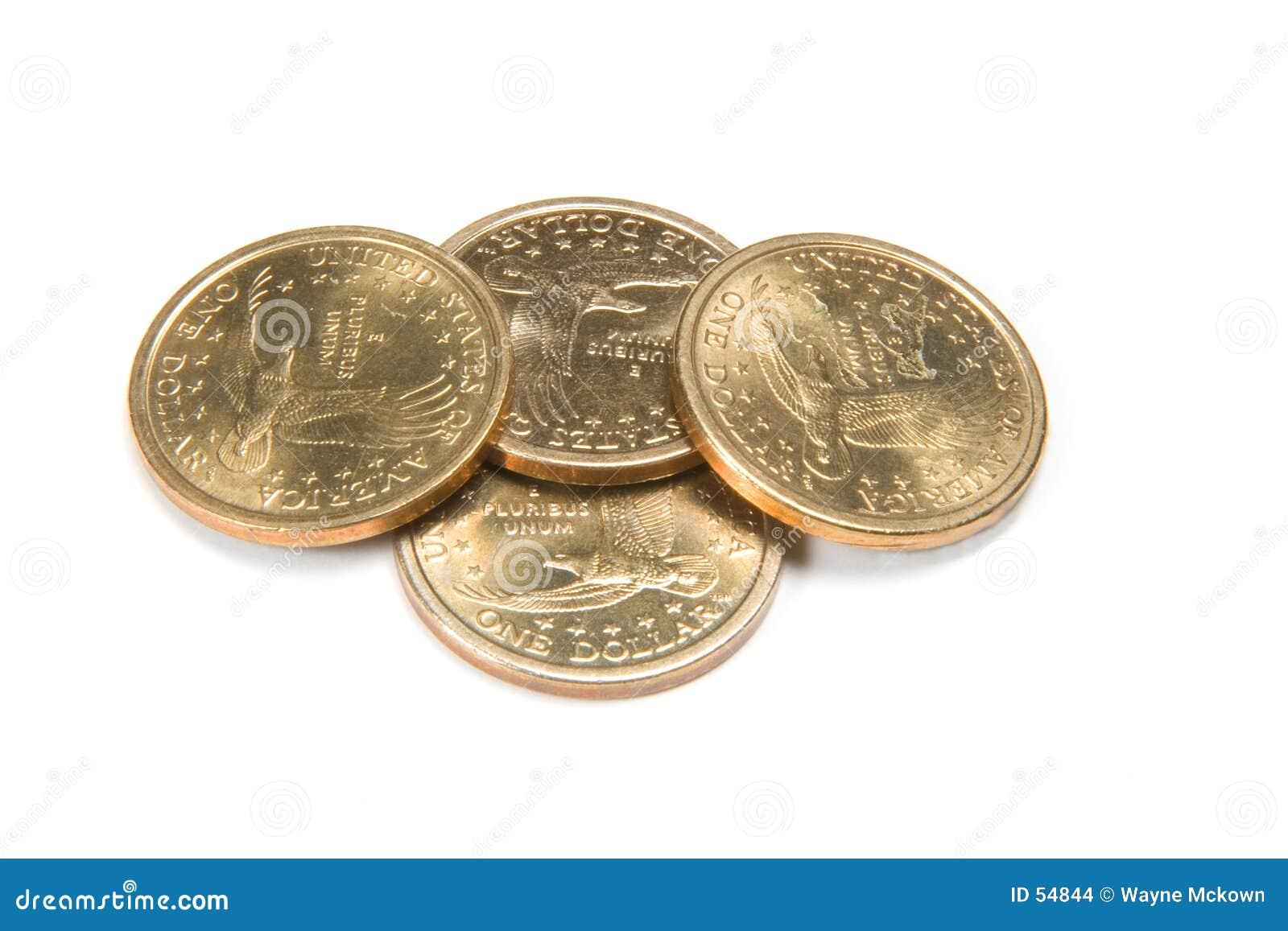 Cuatro monedas de oro