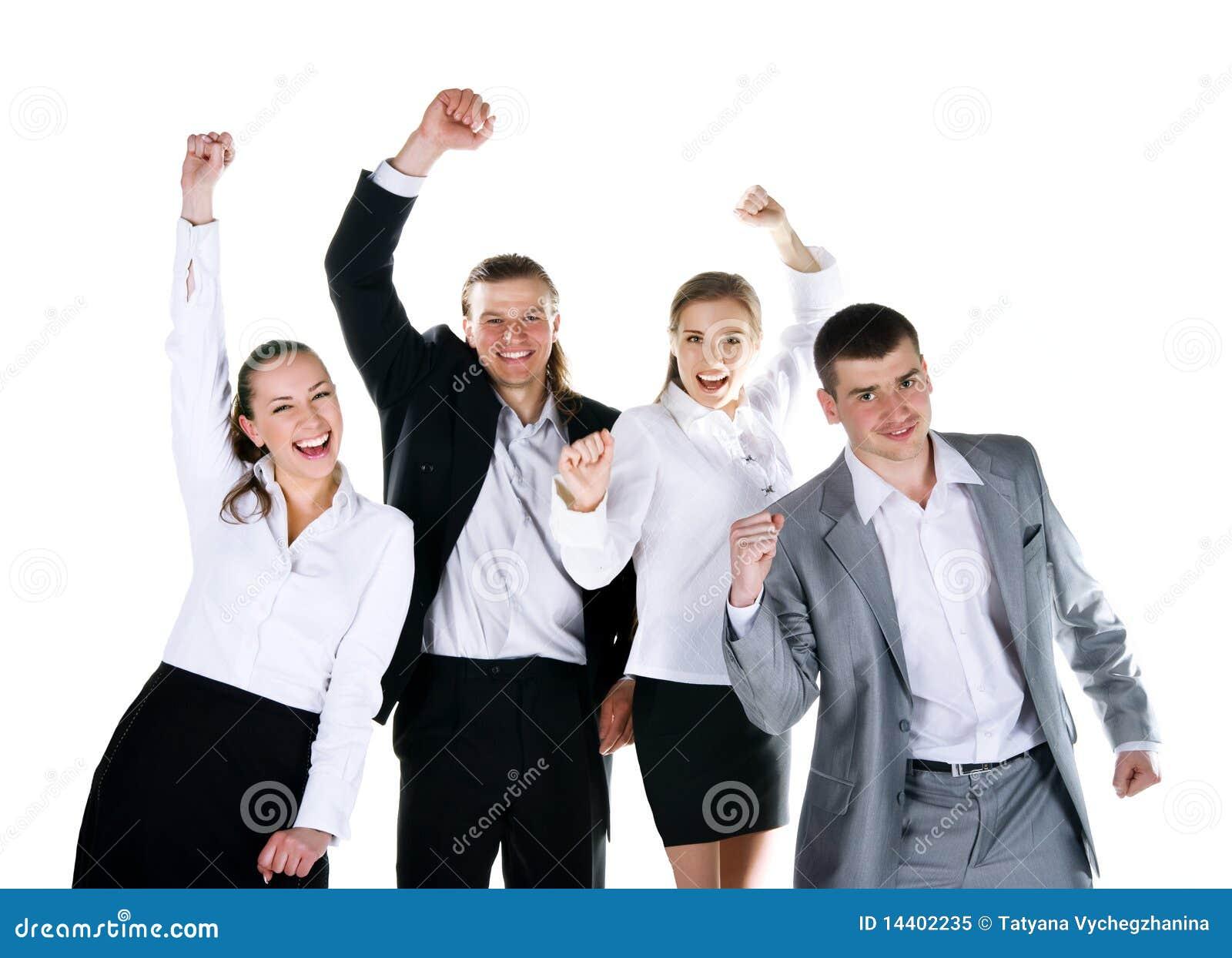 Cuatro personas est n sonriendo foto de archivo libre de for Hotel para cuatro personas