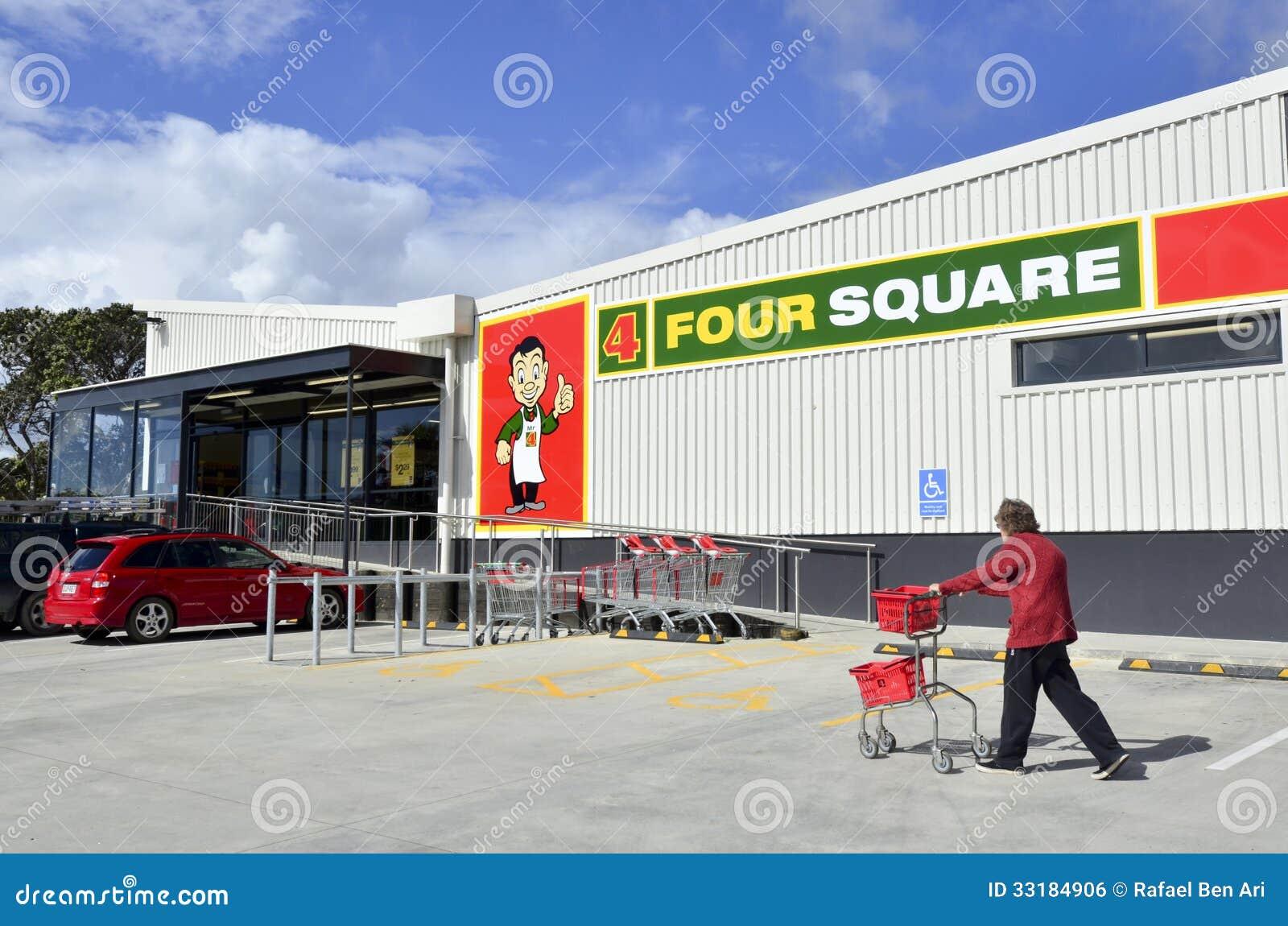 Cuatro supermercados cuadrados