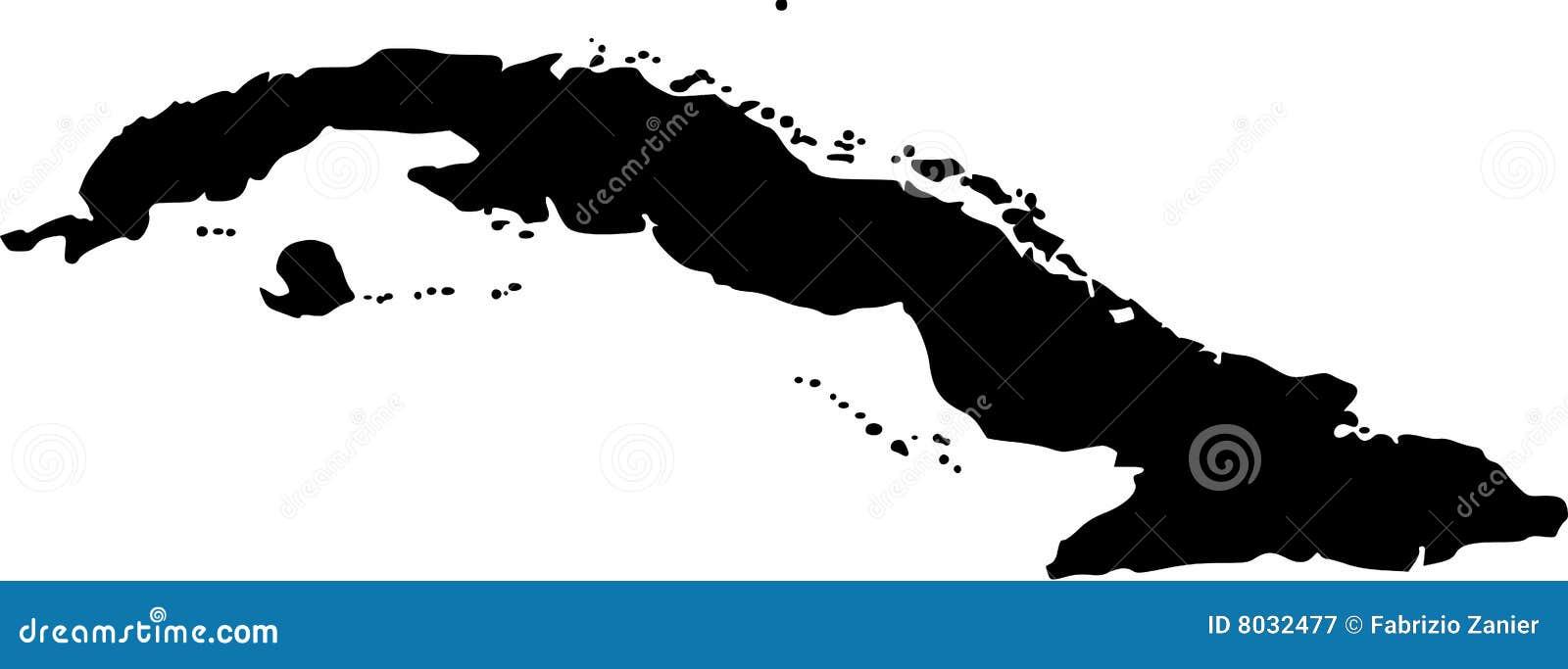 Cuba översiktsvektor