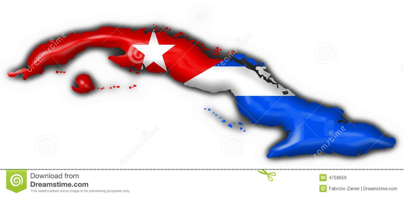 Cuba Button Flag Map Shape Royalty Free Stock Images - Image: 4758659