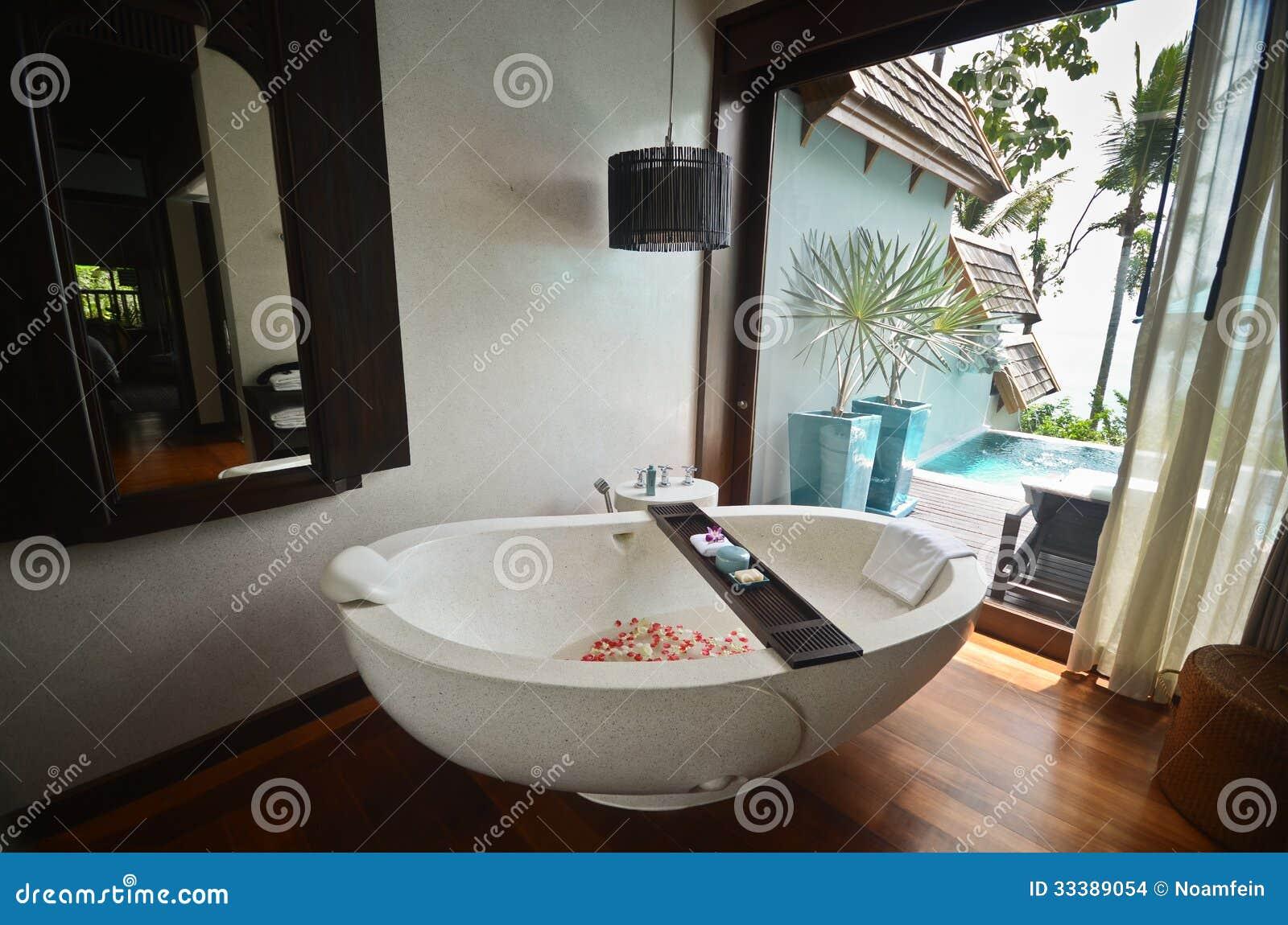 Cuba dos termas do banheiro do recurso