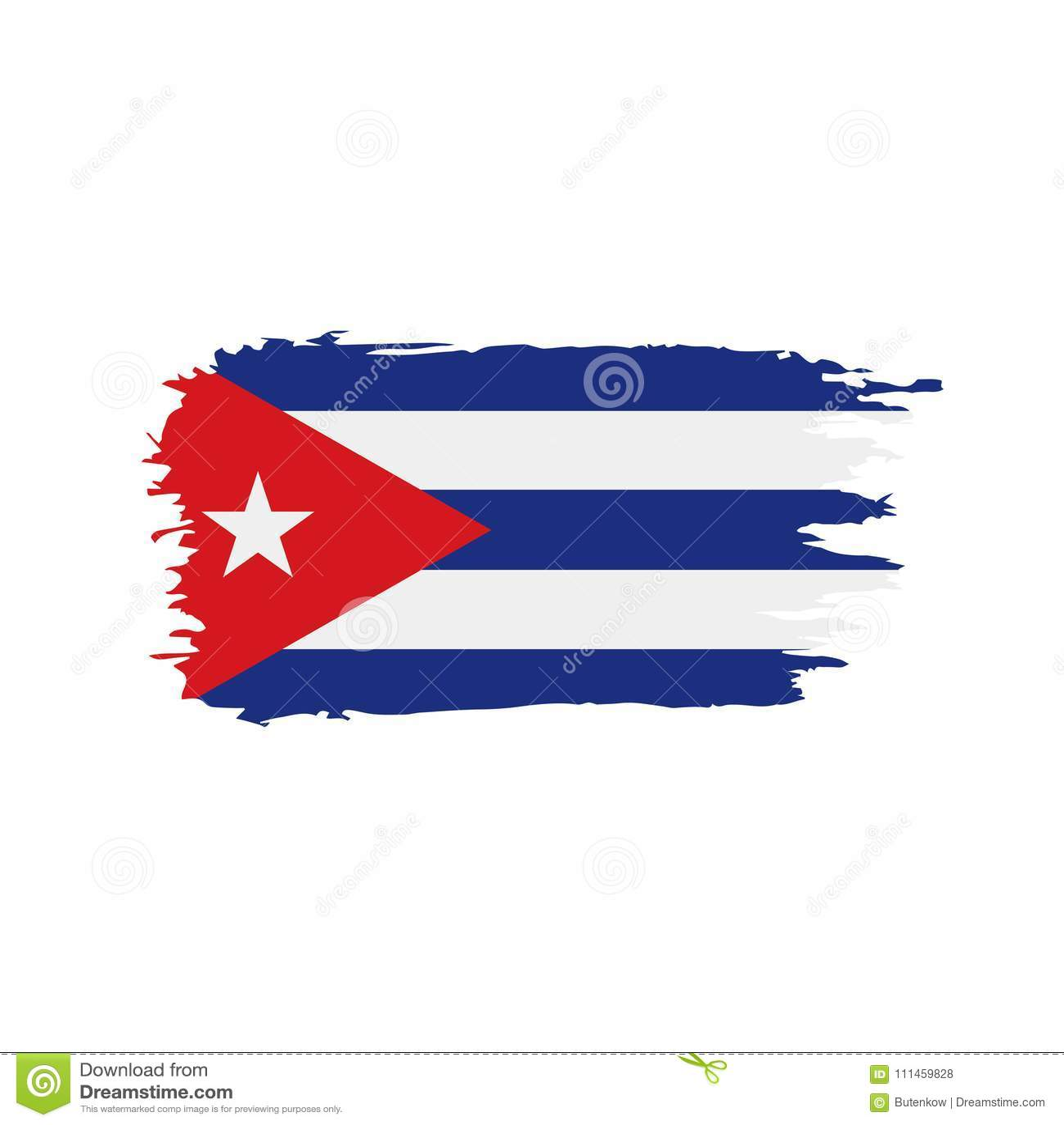 Download Cuba Flag, Vector Illustration Stock Vector   Illustration Of  Grunge, Cuban: 111459828