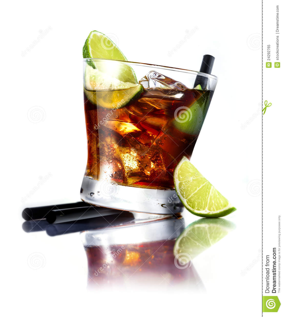 cuba libre cocktail royalty free stock photo image 24292765. Black Bedroom Furniture Sets. Home Design Ideas
