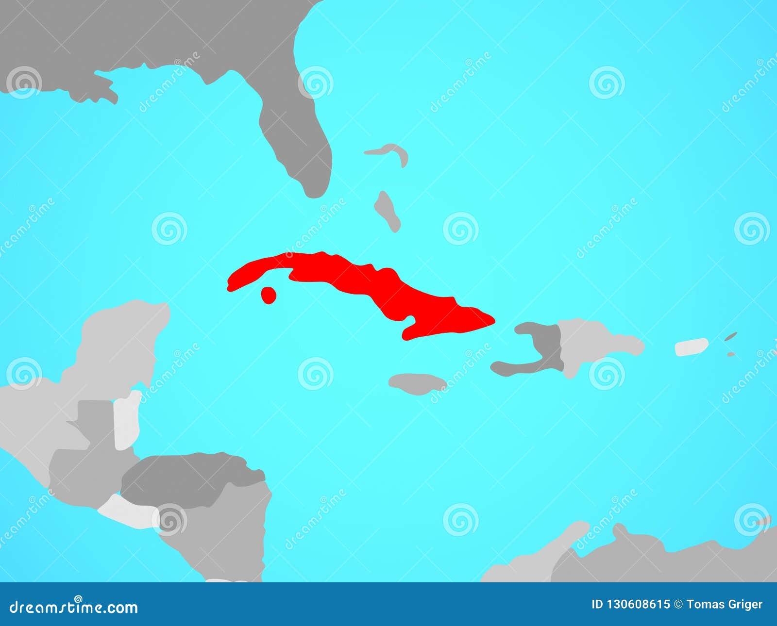 Cuba On Map Stock Illustration Illustration Of Cuban 130608615