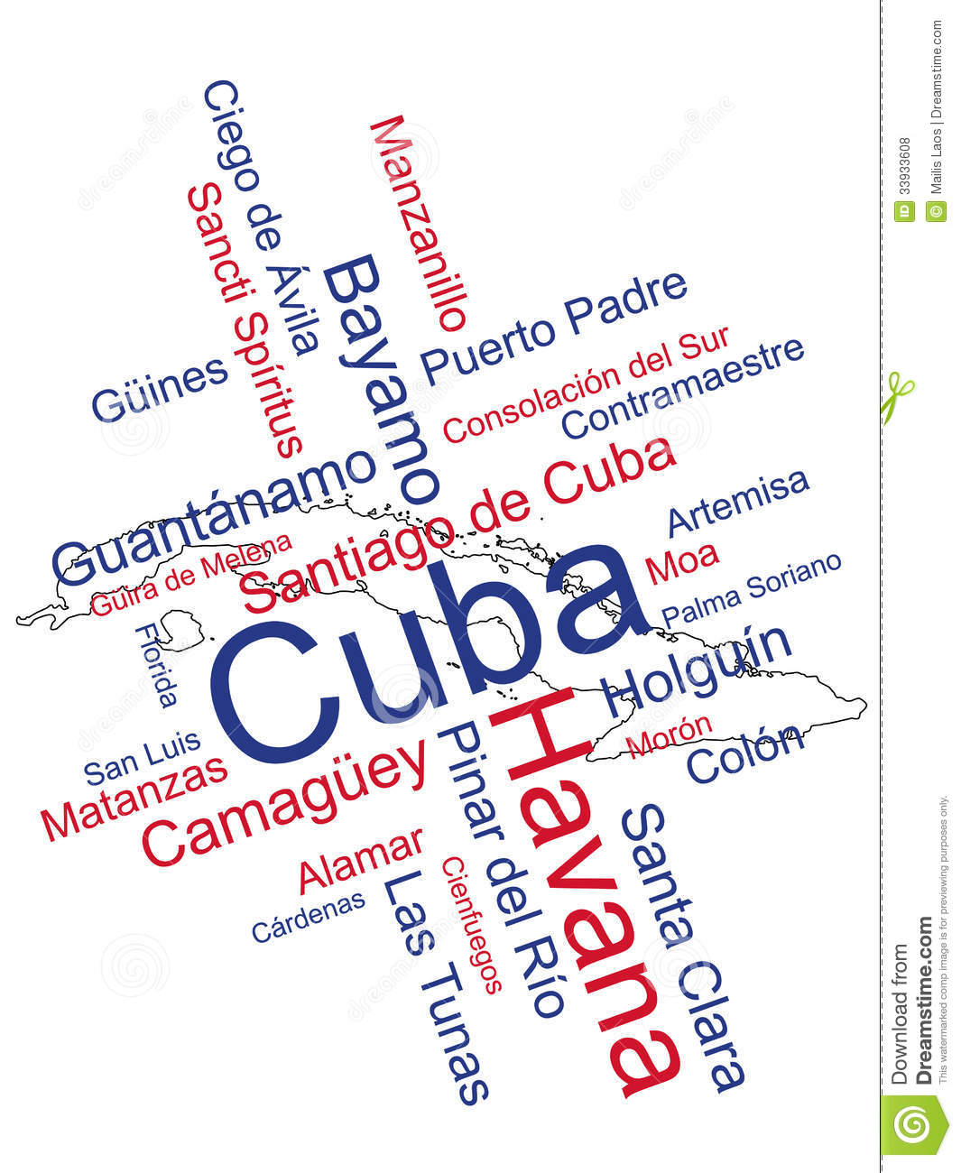 Download Cuba Map and Cities stock vector. Illustration of havana - 33933608
