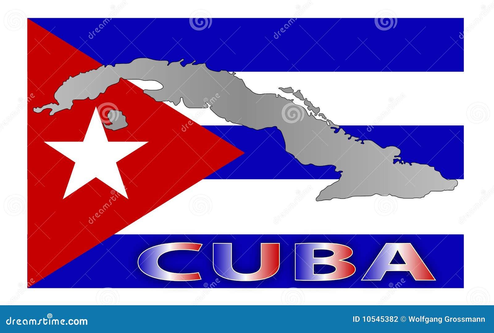 Cuba-map-flag stock il... Mexico Country Vector