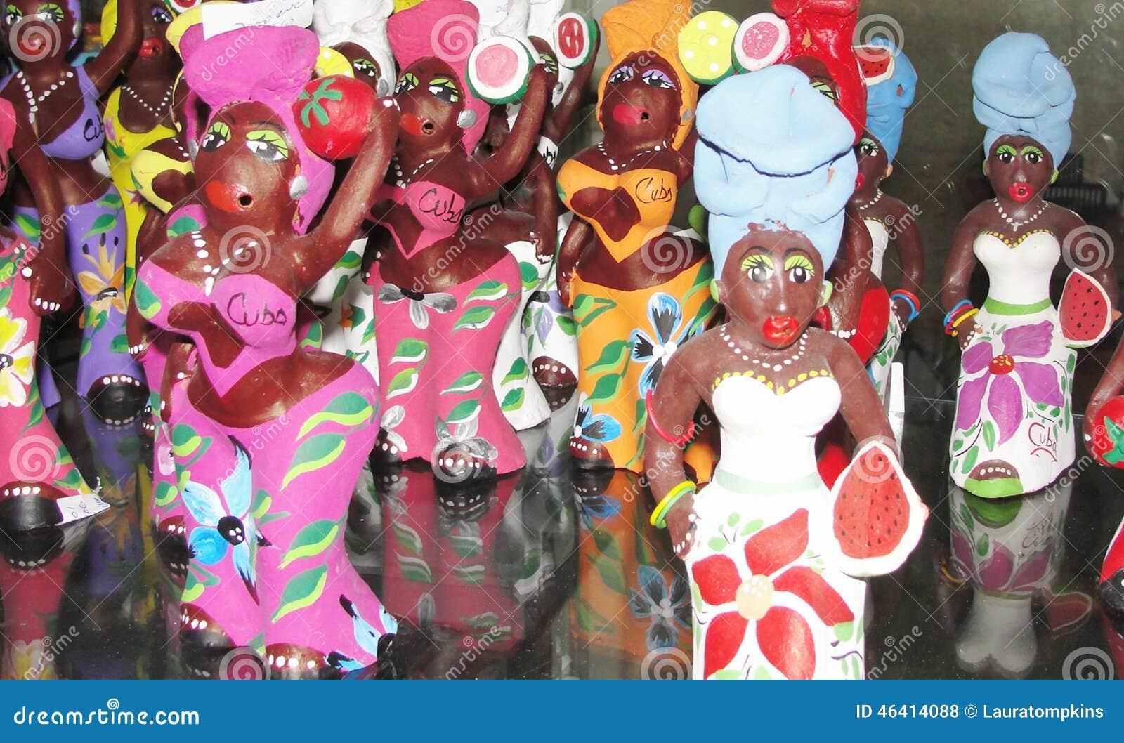 Download Cuba Street Market Dolls stock photo. Image of display - 46414088