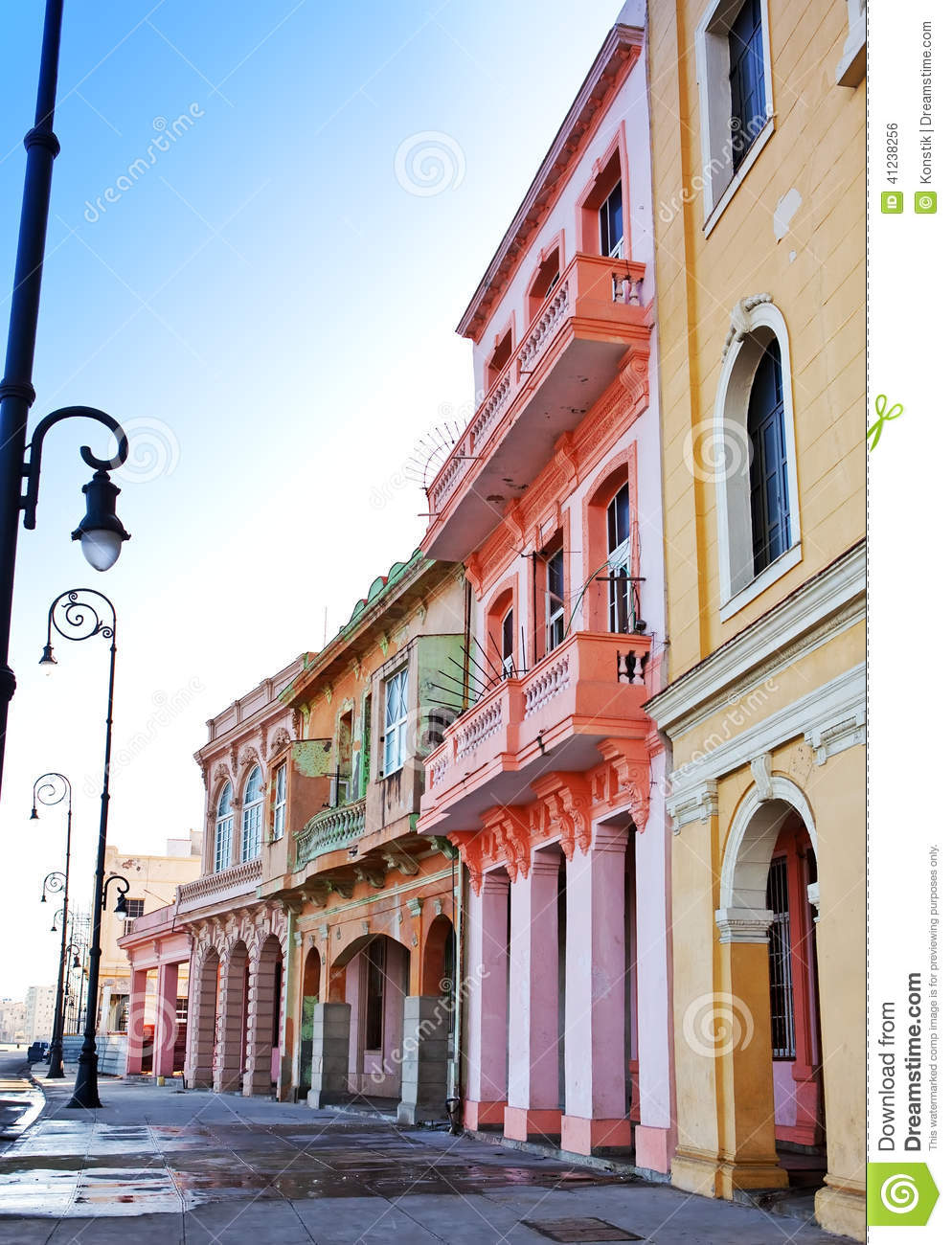 Cuba. Streets Of Old Havana. Stock Photo - Image: 41238256