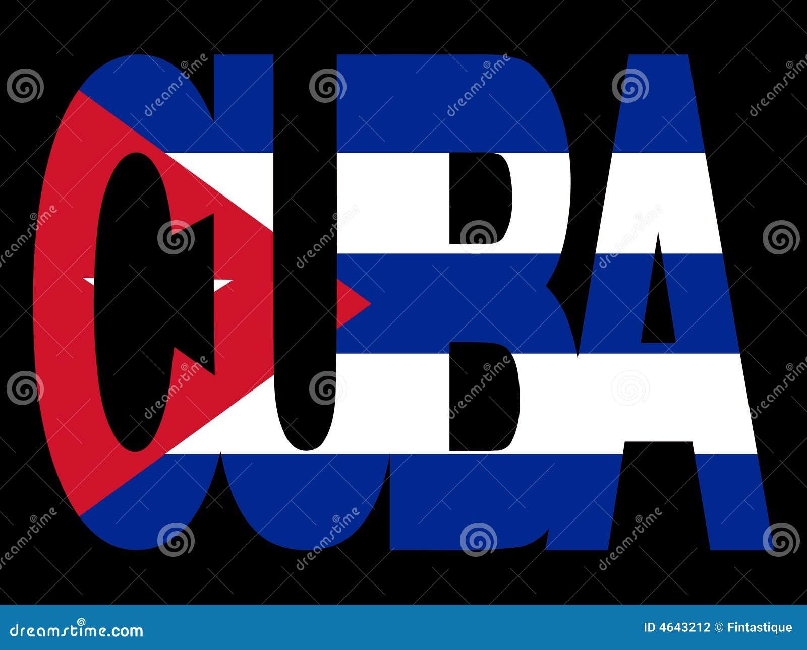 Cuba tekst flagę