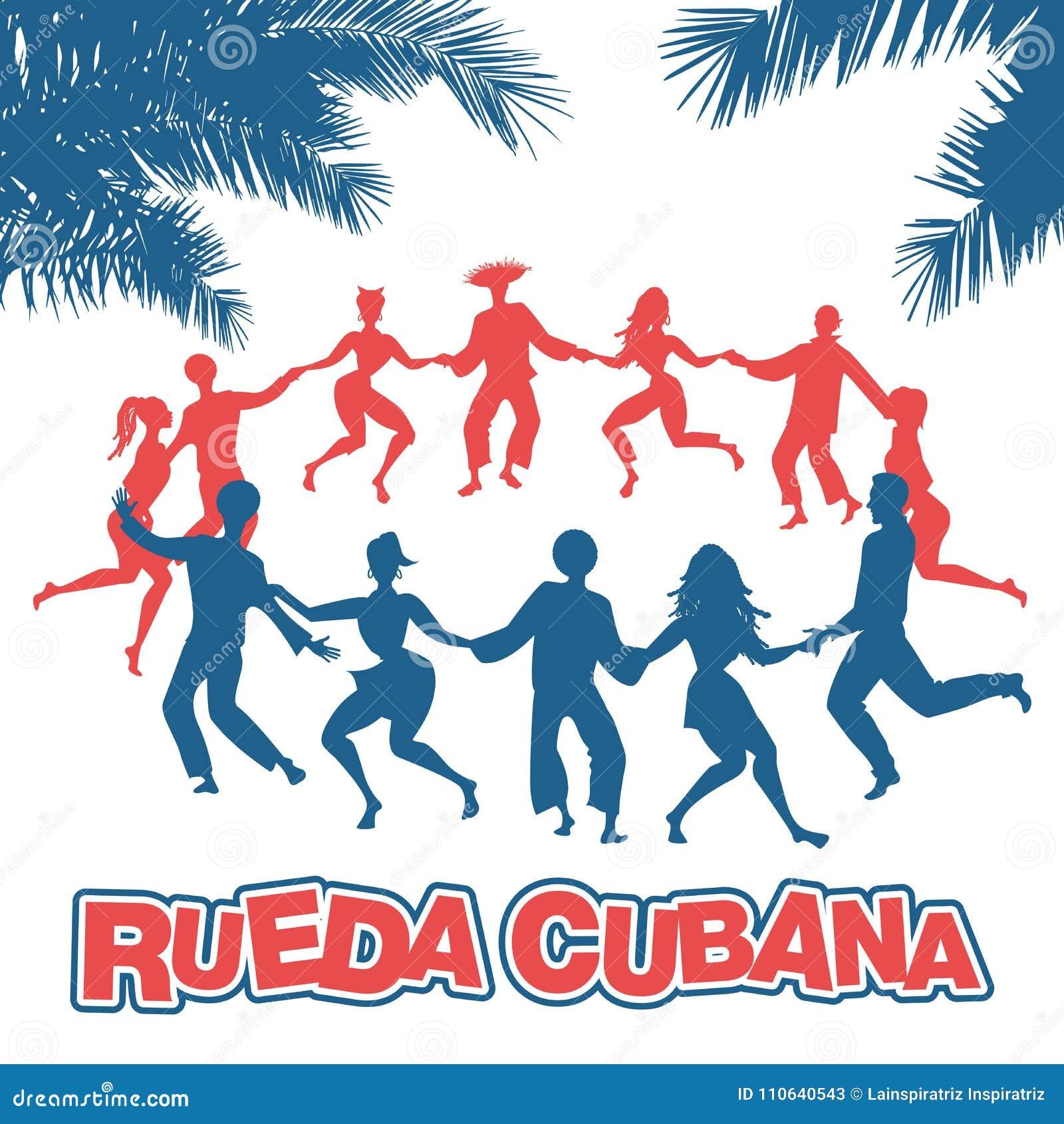 Cubain Rueda, ou groupe de personnes Salsa de danse en cercle