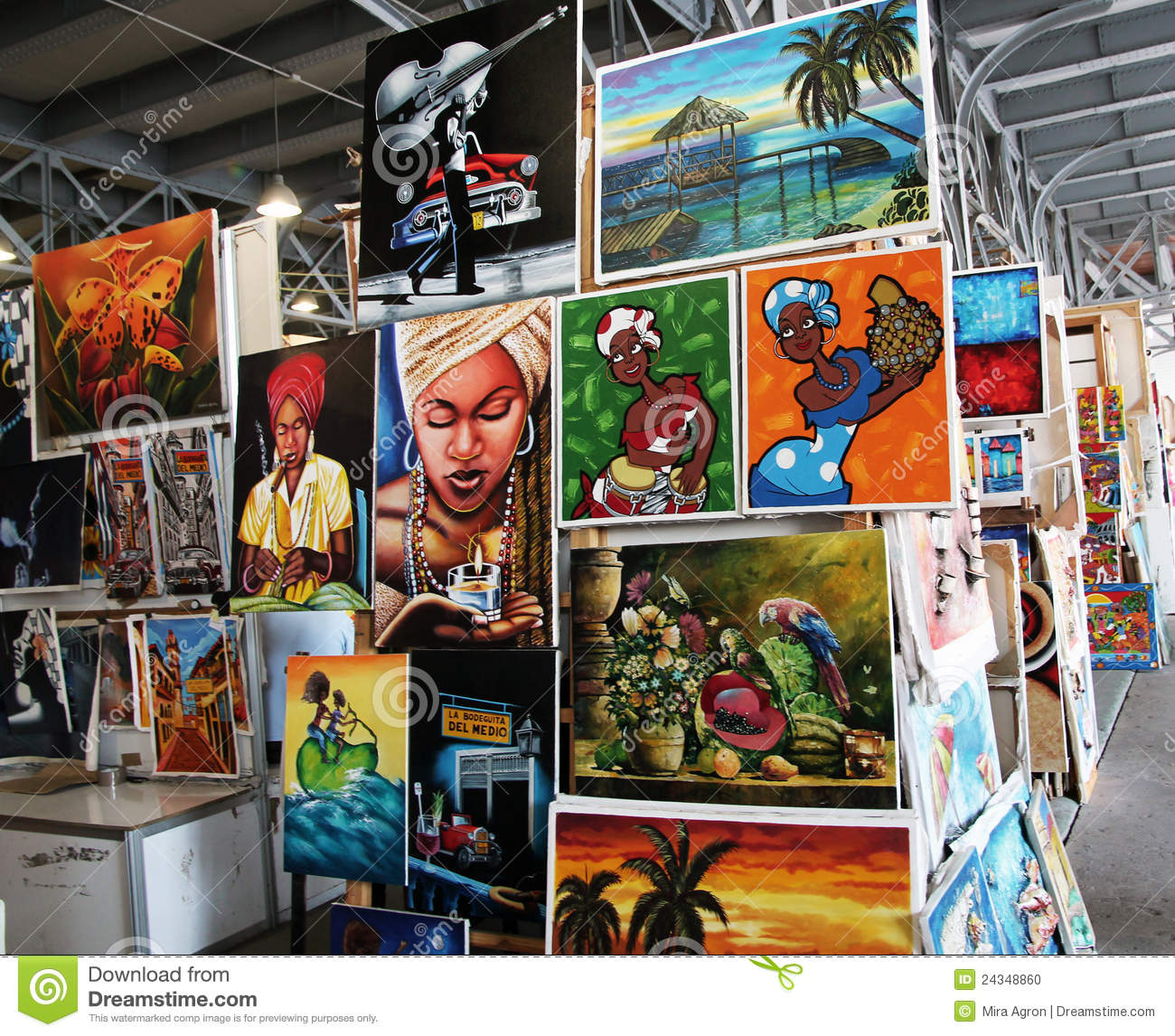 Download Cuban art editorial image. Image of market, colorful - 24348860