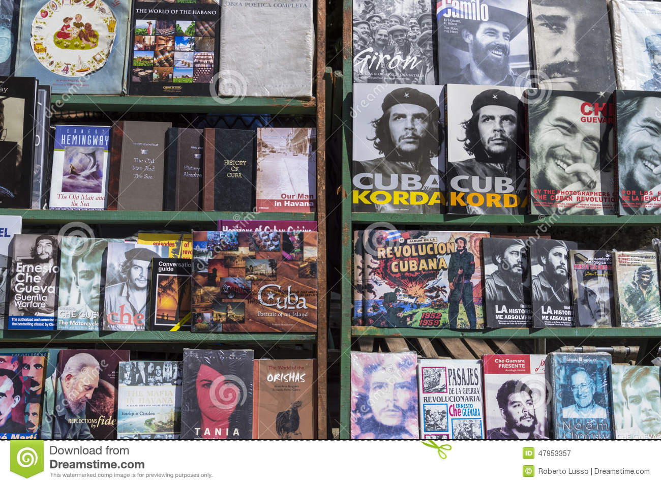 Cuban books in Havana editorial photography. Image of ...