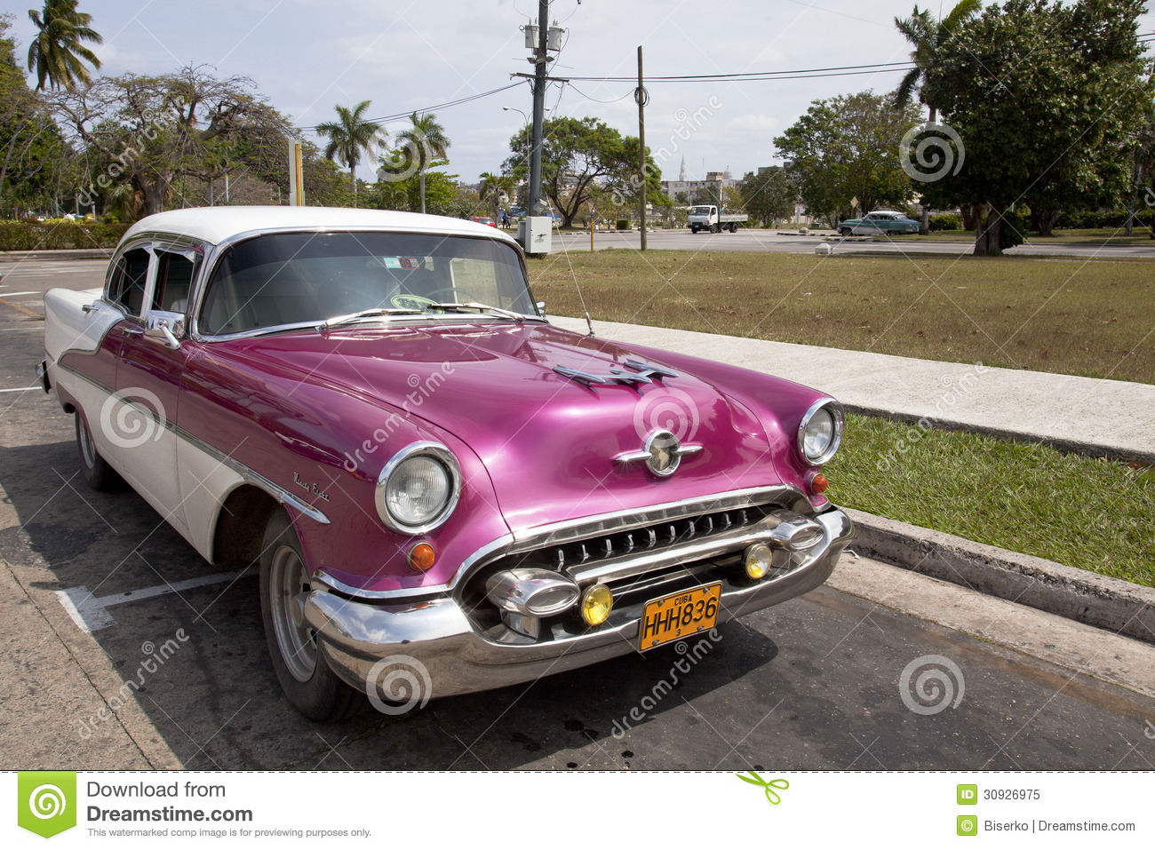 Old american car in havana cuba editorial image image for Old american cars