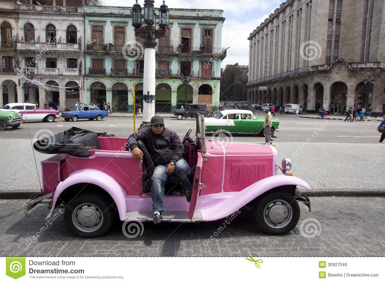 Old American Car In Havana Cuba Editorial Image Image - All old cars