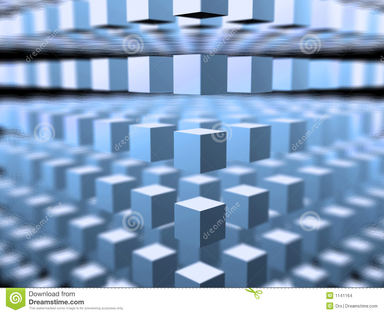 Cube 3d Space -abstract Background Stock Images
