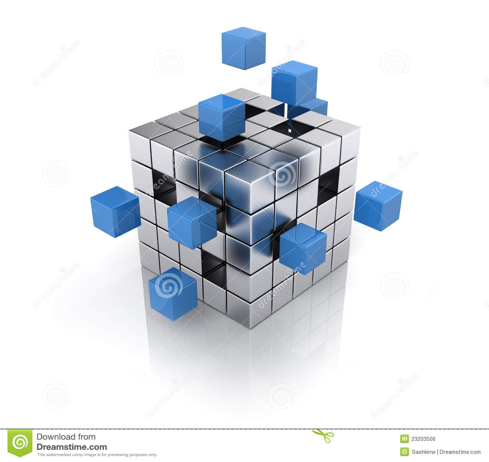 assembling cube structure stock illustration illustration of