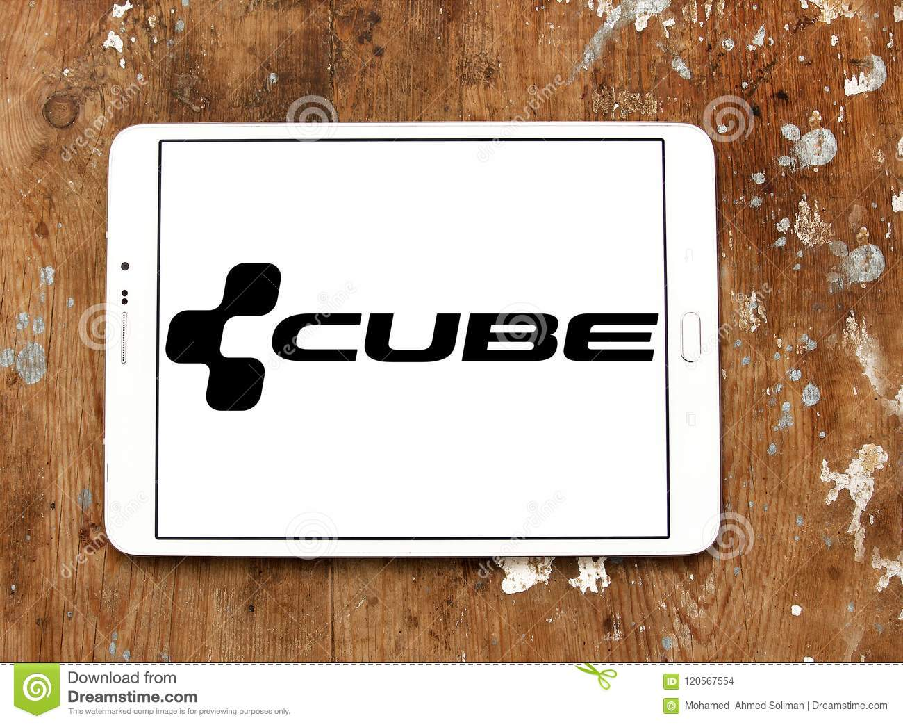 Cube Bikes company logo editorial stock image  Image of