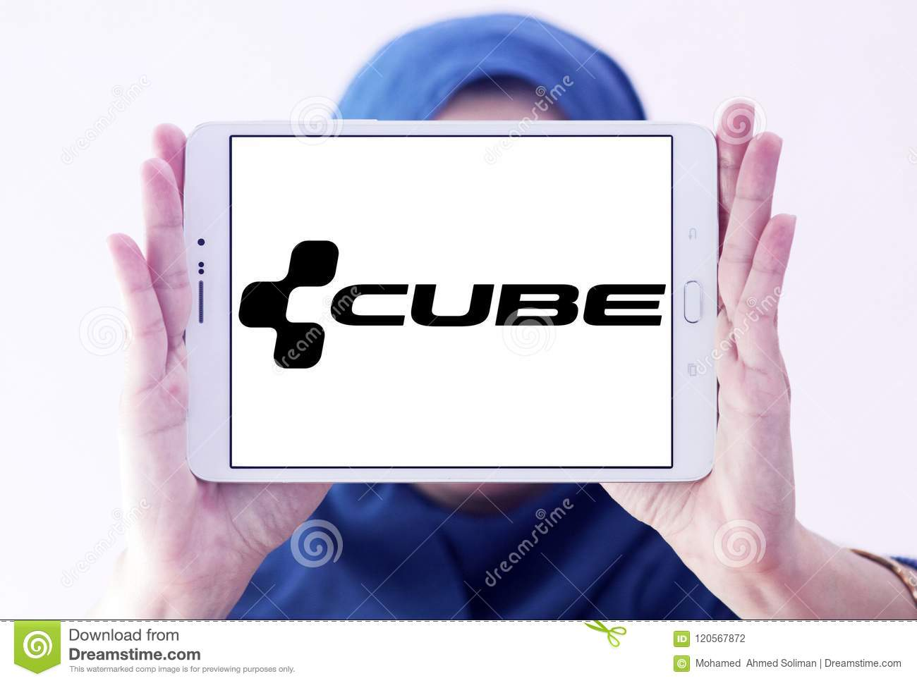 Cube Bikes company logo editorial photography  Image of many