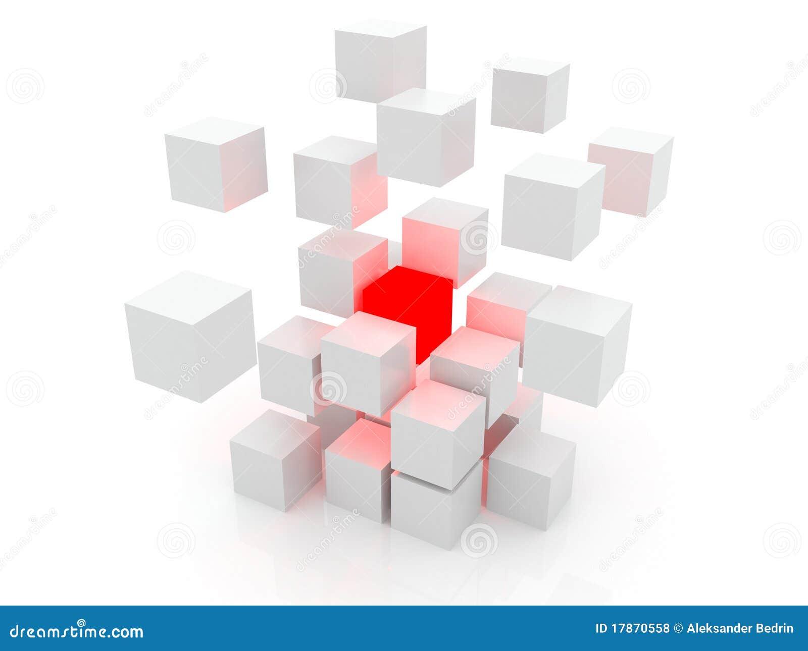 cube blanc 3d photos libres de droits image 17870558. Black Bedroom Furniture Sets. Home Design Ideas