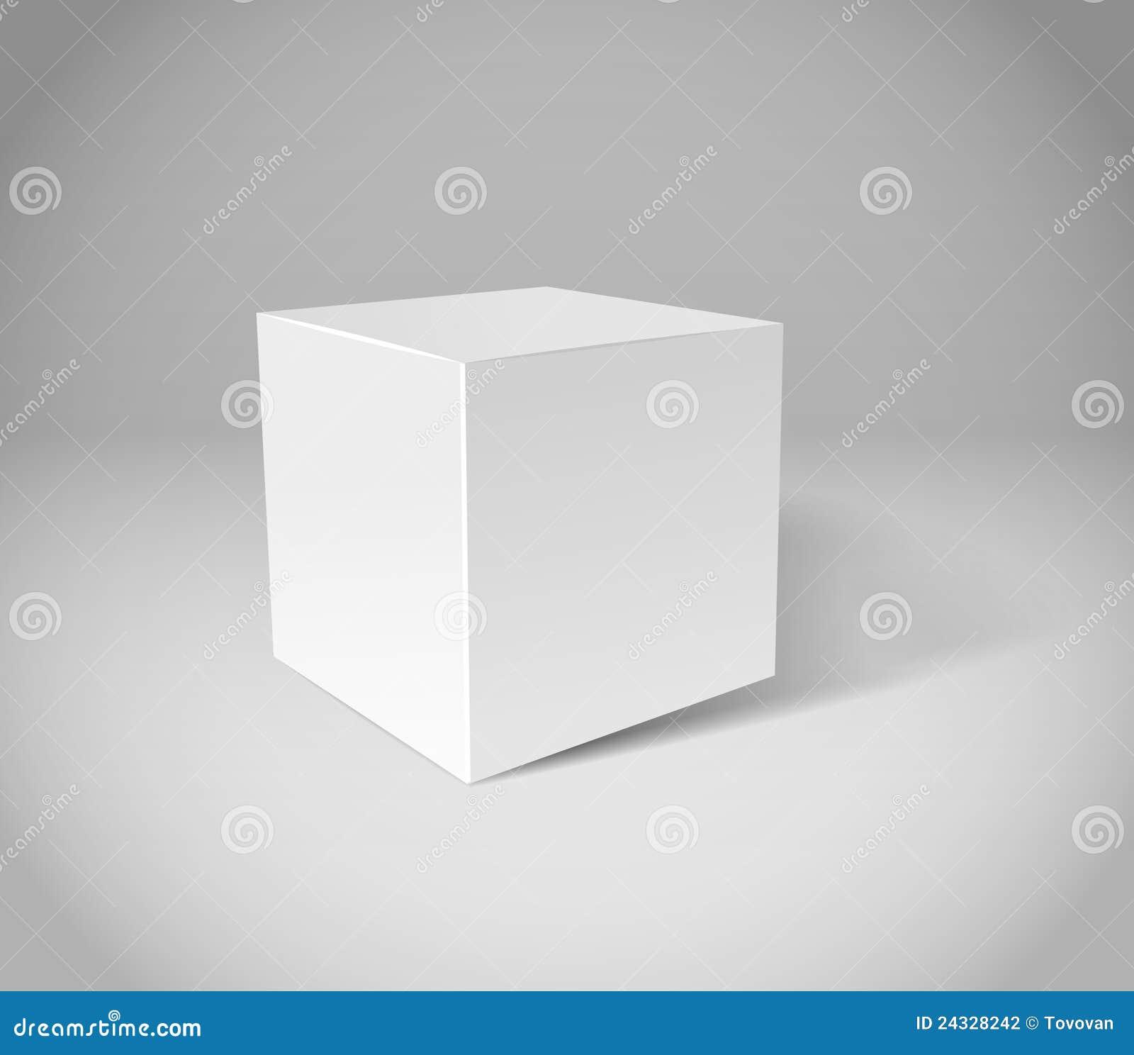 cube blanc en pl tre photographie stock image 24328242. Black Bedroom Furniture Sets. Home Design Ideas