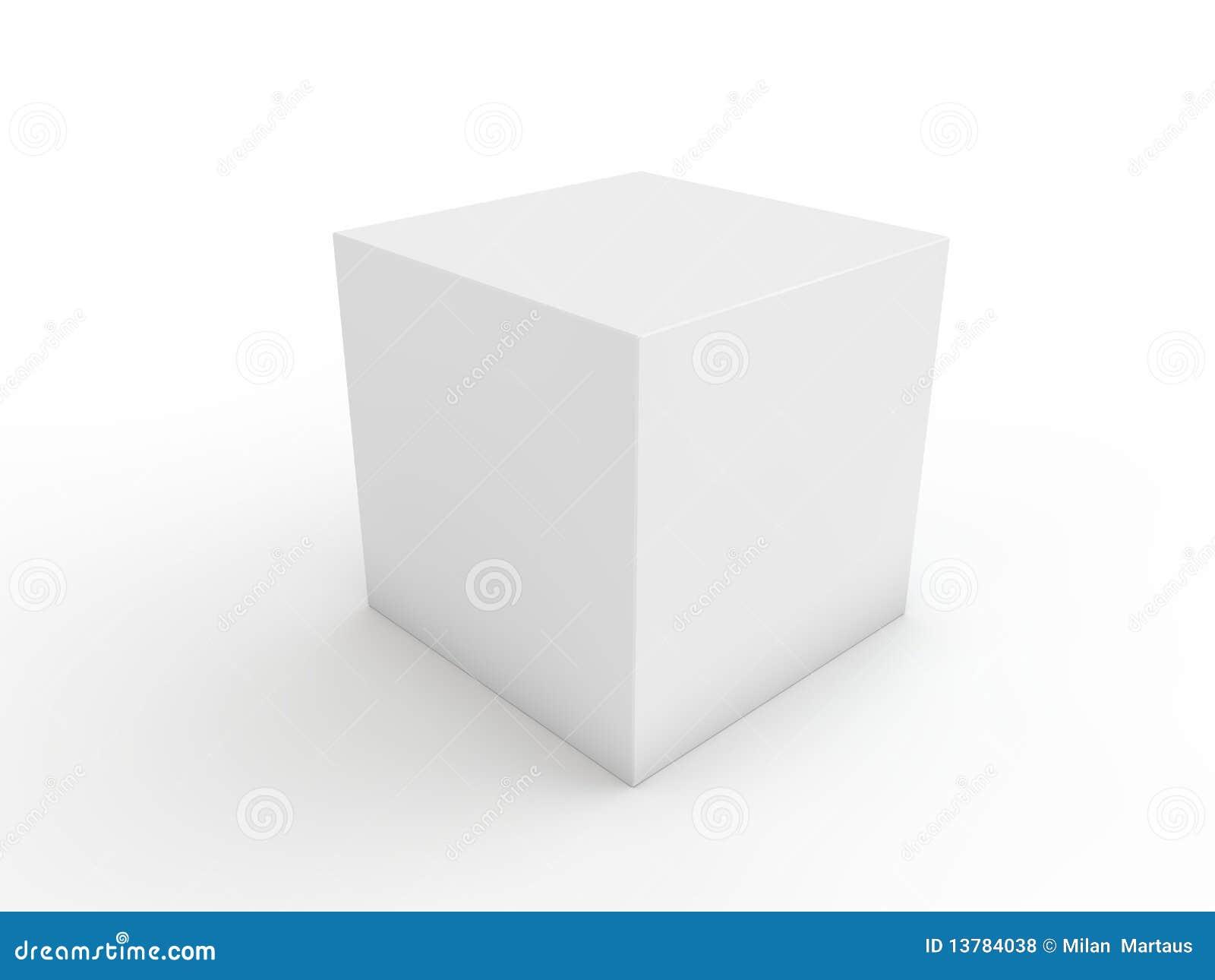cube blanc pour la prochaine conception photos libres de droits image 13784038. Black Bedroom Furniture Sets. Home Design Ideas