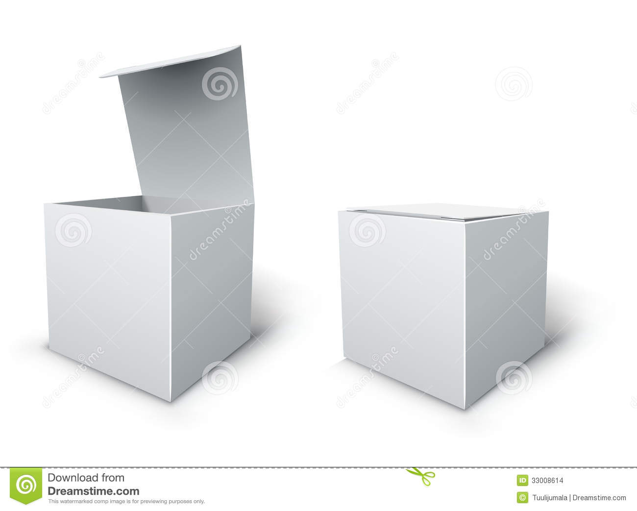 Cube Box Template Stock Vector Illustration Of Object 33008614