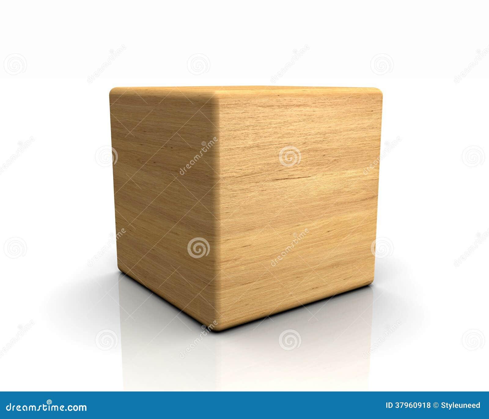 cube en bois illustration stock illustration du form 37960918. Black Bedroom Furniture Sets. Home Design Ideas