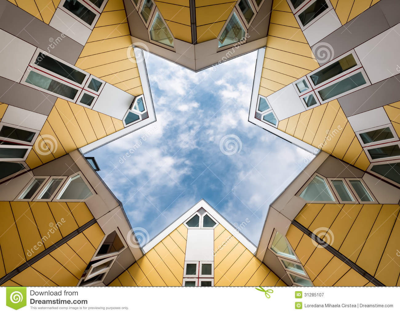 Cube Houses In Rotterdam Editorial Photography Image