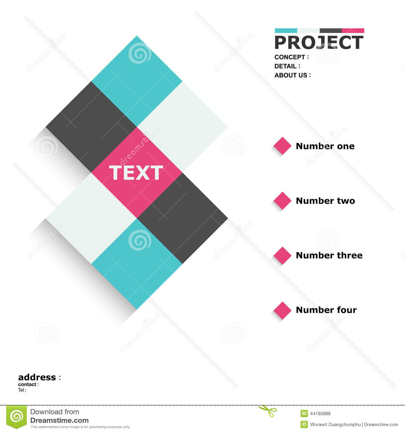 Square layout poster web website graphic design shade shadow info ...