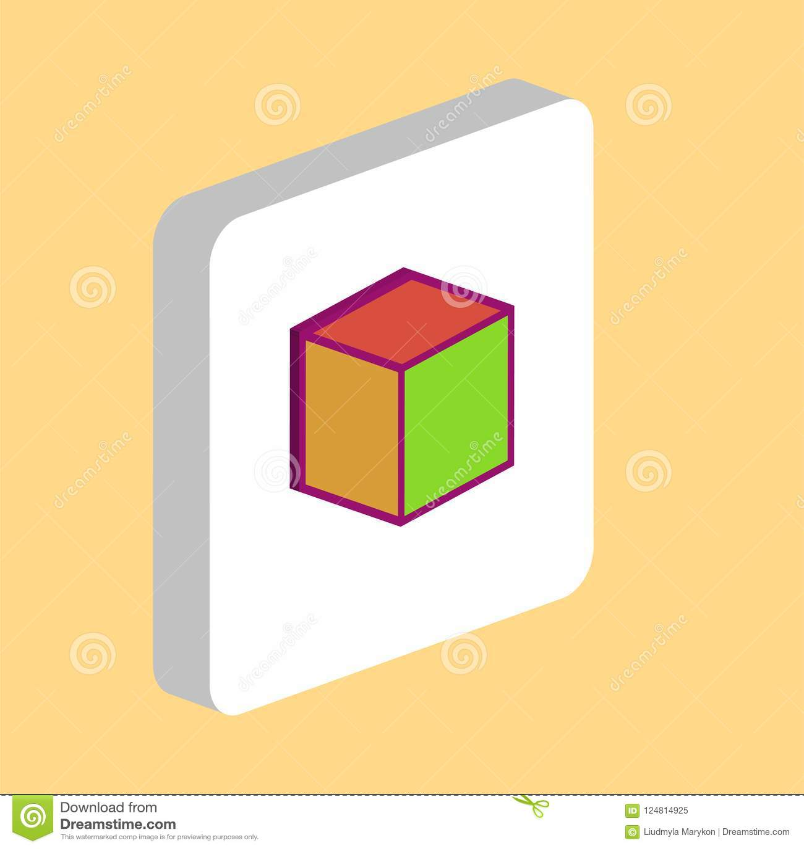 Cube Computer Symbol Stock Vector Illustration Of Cube 124814925