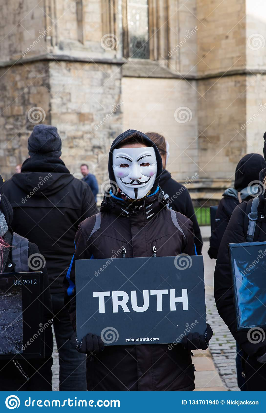 The Cube Of Truth Vegan Protestors