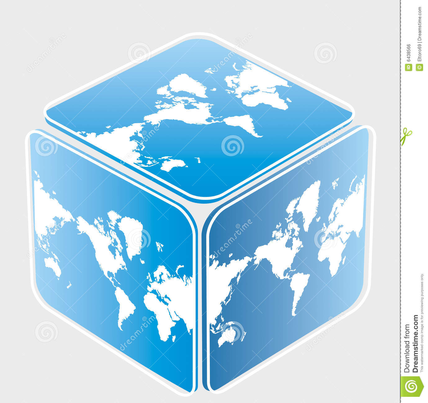 Cube World Map.Cube World Map Stock Illustrations 501 Cube World Map Stock